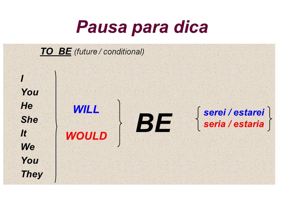serei / estarei seria / estaria