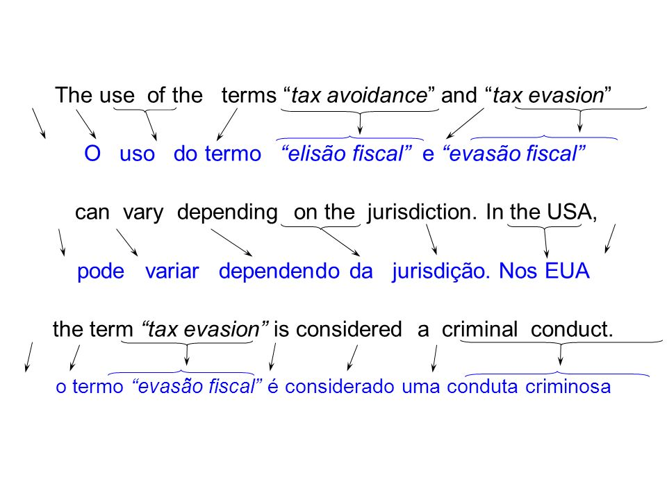 The use of the terms tax avoidance and tax evasion