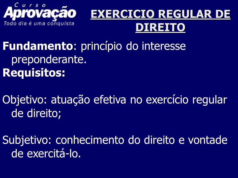 EXERCICIO REGULAR DE DIREITO