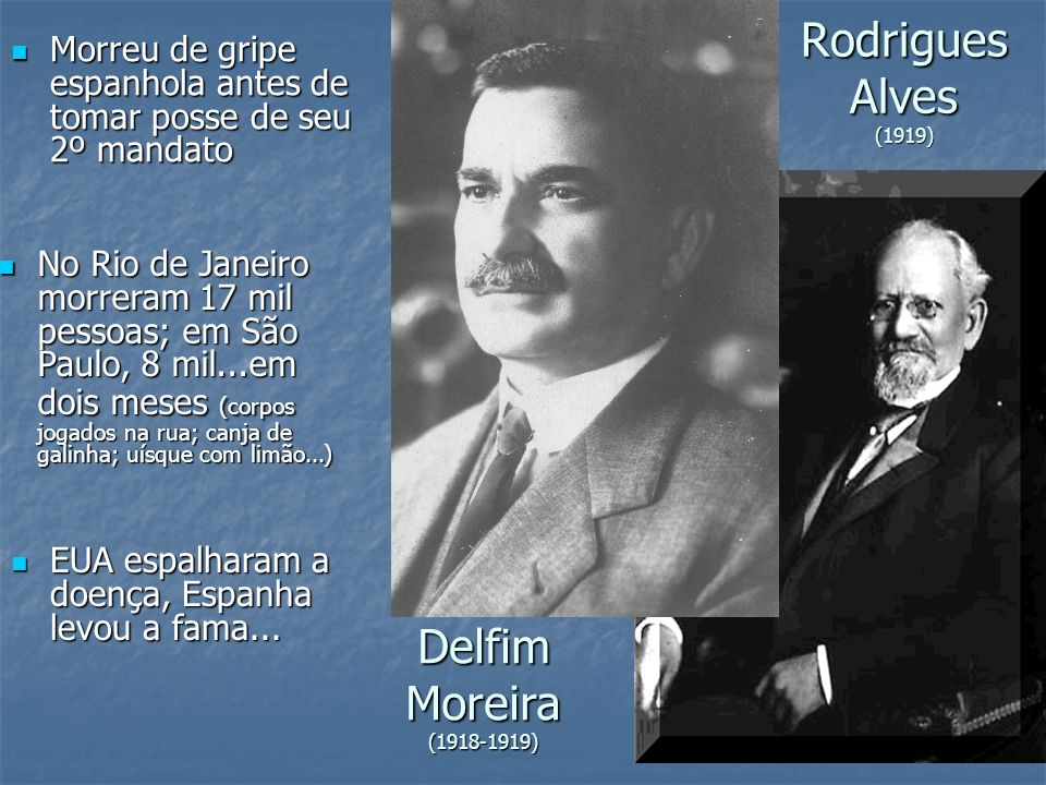 Rodrigues Alves (1919) Delfim Moreira (1918-1919)