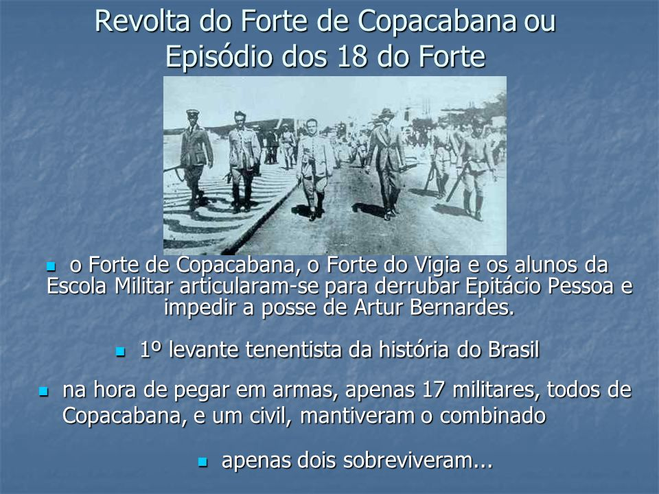 Revolta do Forte de Copacabana ou Episódio dos 18 do Forte