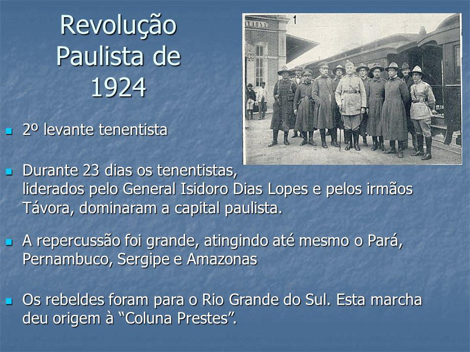 Revolução Paulista de 1924 2º levante tenentista