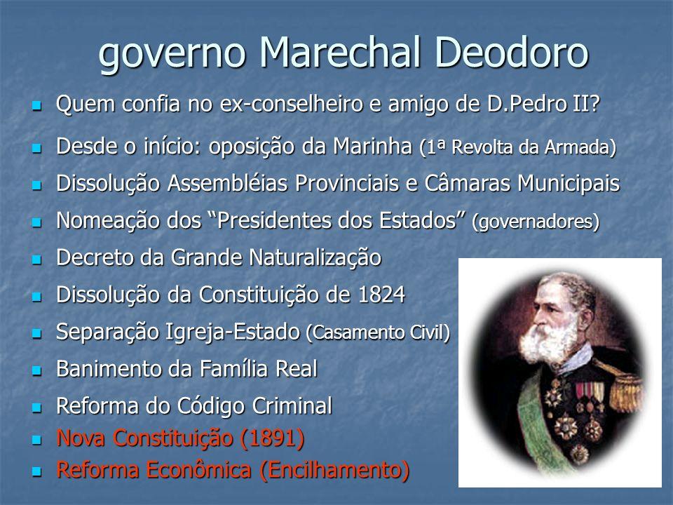 governo Marechal Deodoro