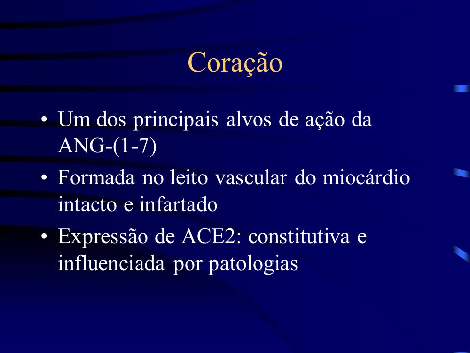 Coração Um dos principais alvos de ação da ANG-(1-7)