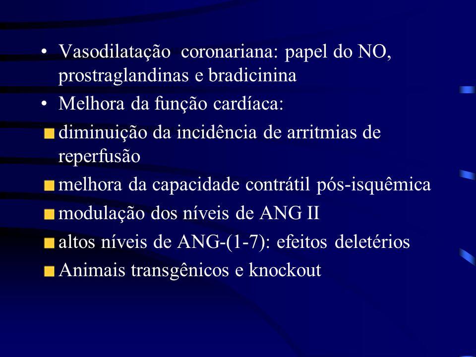 Vasodilatação coronariana: papel do NO, prostraglandinas e bradicinina