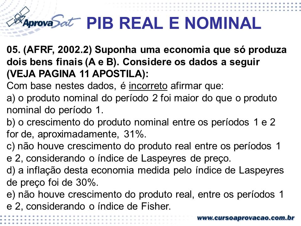 PIB REAL E NOMINAL