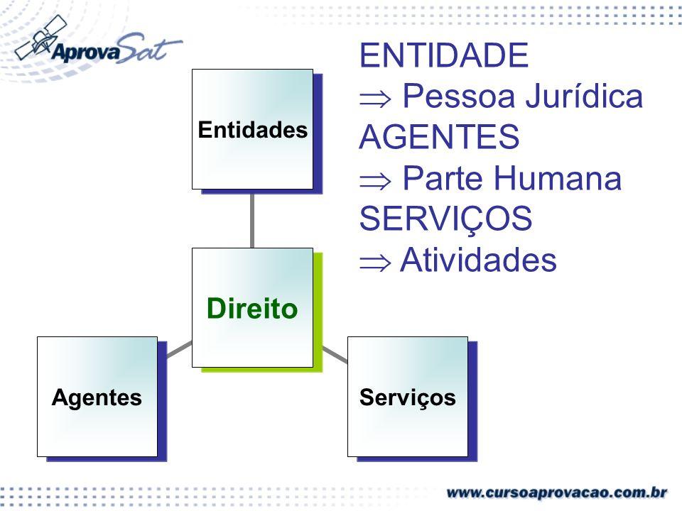 ENTIDADE  Pessoa Jurídica AGENTES  Parte Humana SERVIÇOS  Atividades