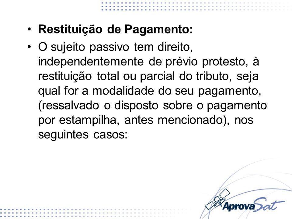 Restituição de Pagamento: