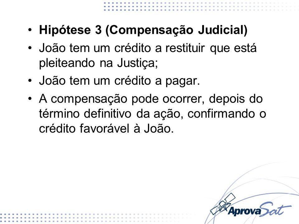 Hipótese 3 (Compensação Judicial)