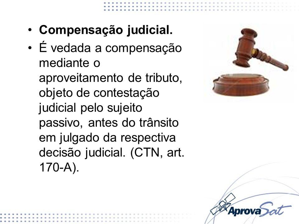 Compensação judicial.