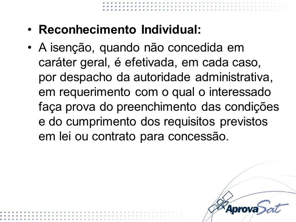 Reconhecimento Individual: