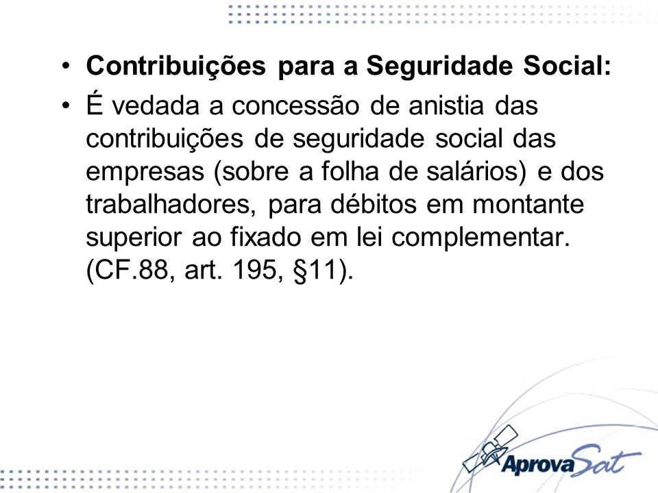 Contribuições para a Seguridade Social: