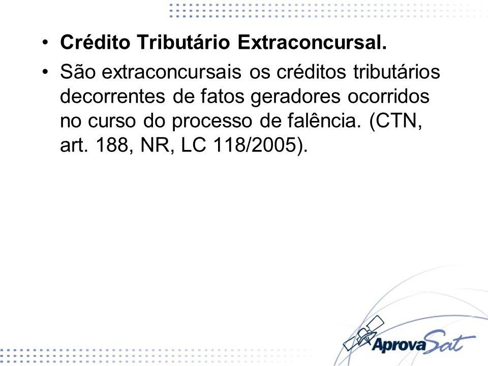 Crédito Tributário Extraconcursal.