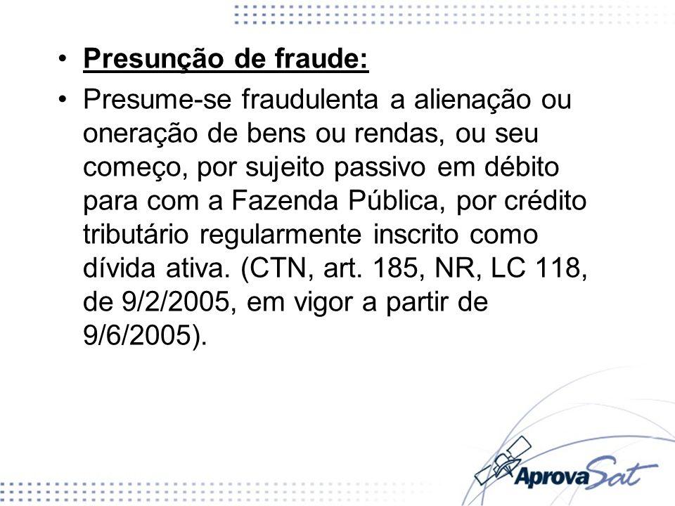 Presunção de fraude: