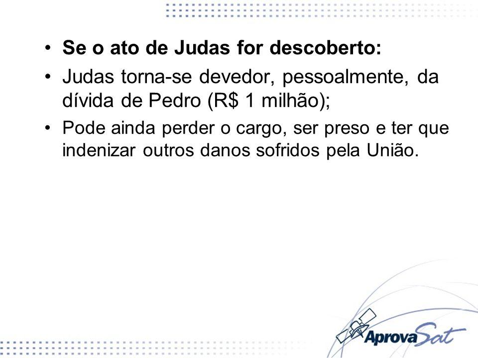 Se o ato de Judas for descoberto: