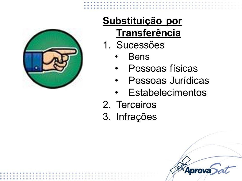 Substituição por Transferência Sucessões Pessoas físicas