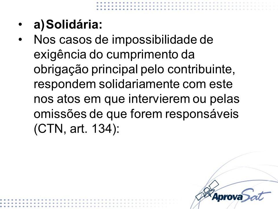 a) Solidária:
