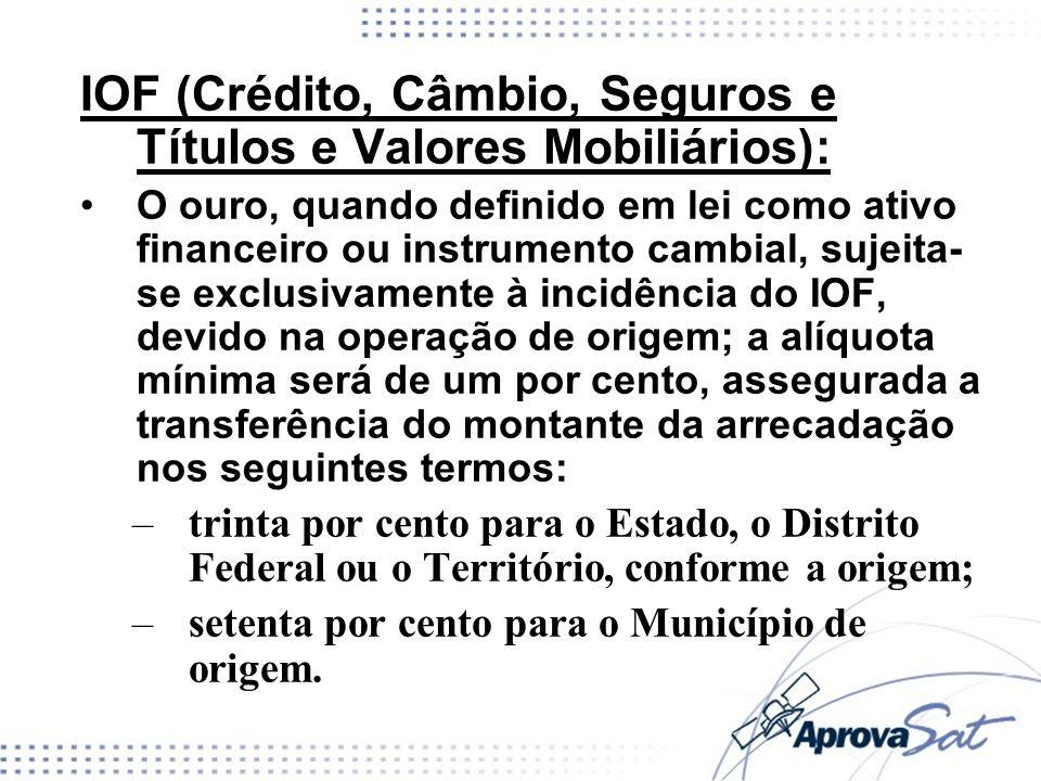 IOF (Crédito, Câmbio, Seguros e Títulos e Valores Mobiliários):