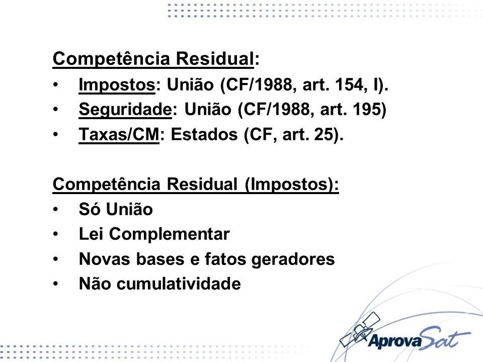 Competência Residual: