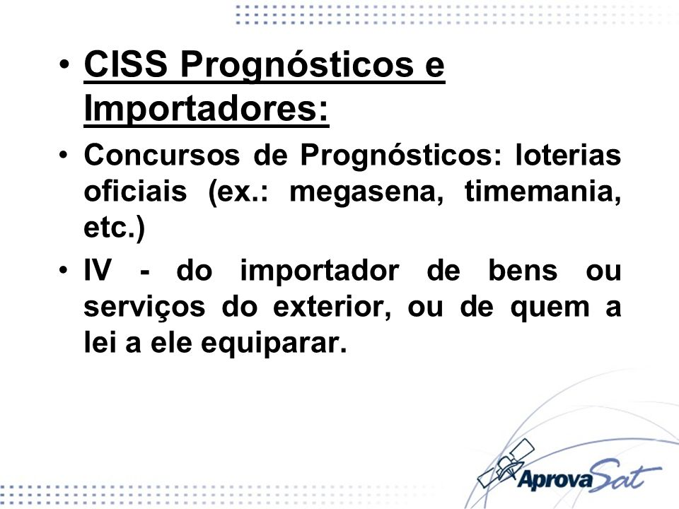 CISS Prognósticos e Importadores: