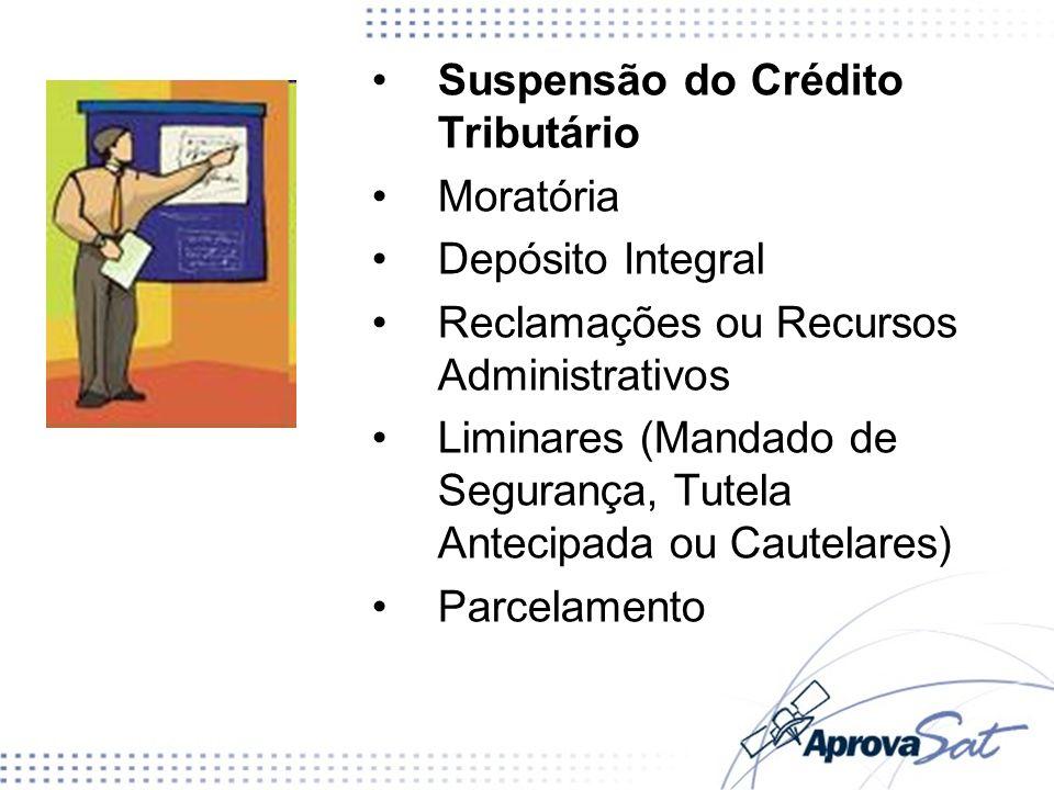 Suspensão do Crédito Tributário Moratória Depósito Integral