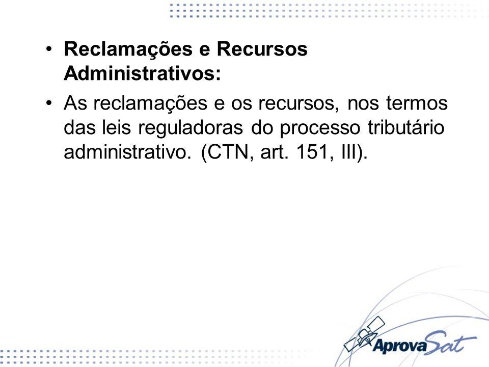 Reclamações e Recursos Administrativos: