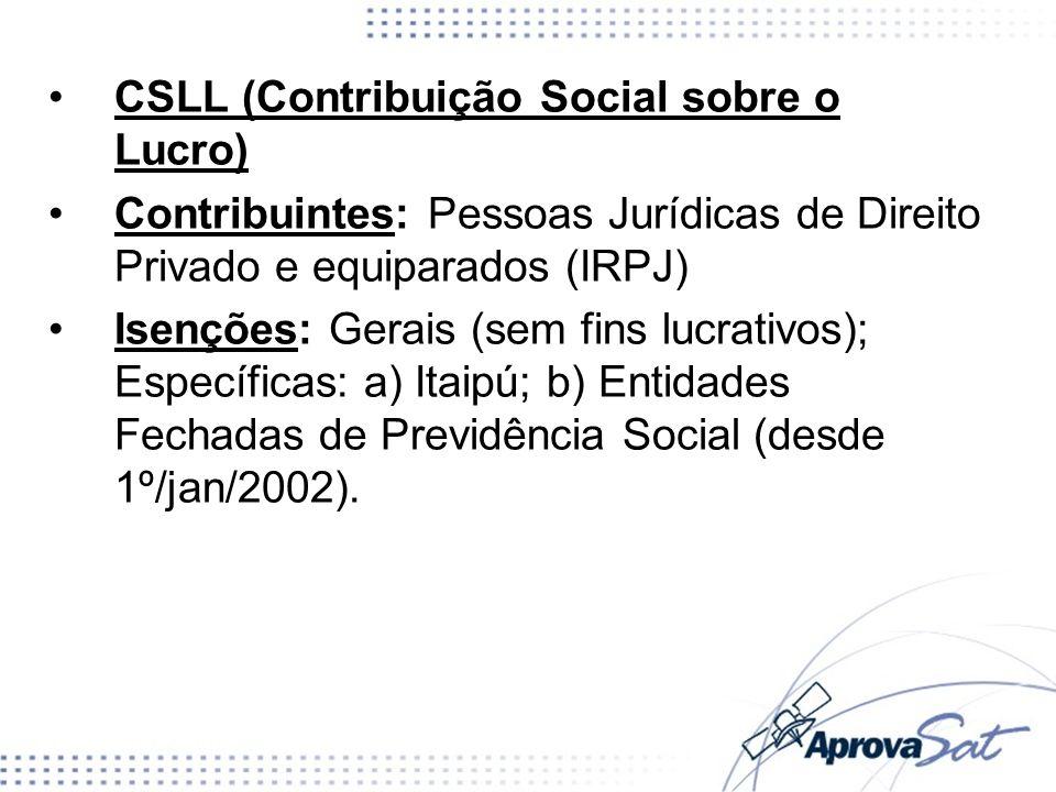 CSLL (Contribuição Social sobre o Lucro)