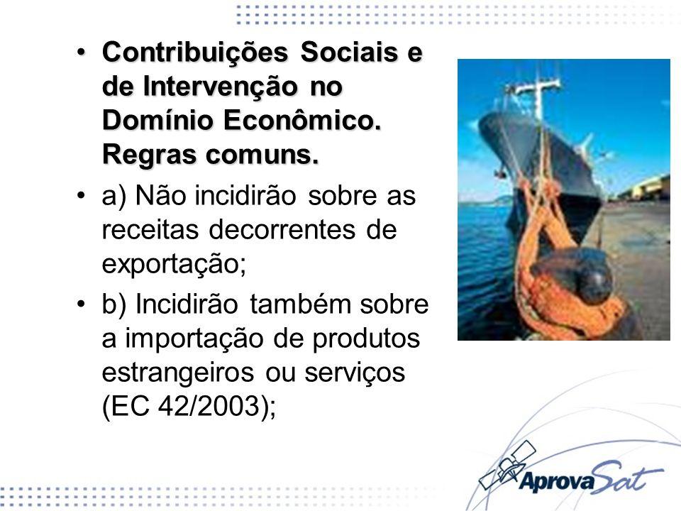 Contribuições Sociais e de Intervenção no Domínio Econômico