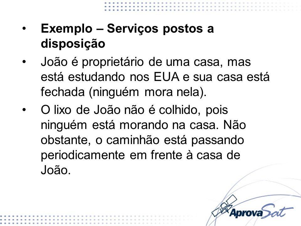 Exemplo – Serviços postos a disposição