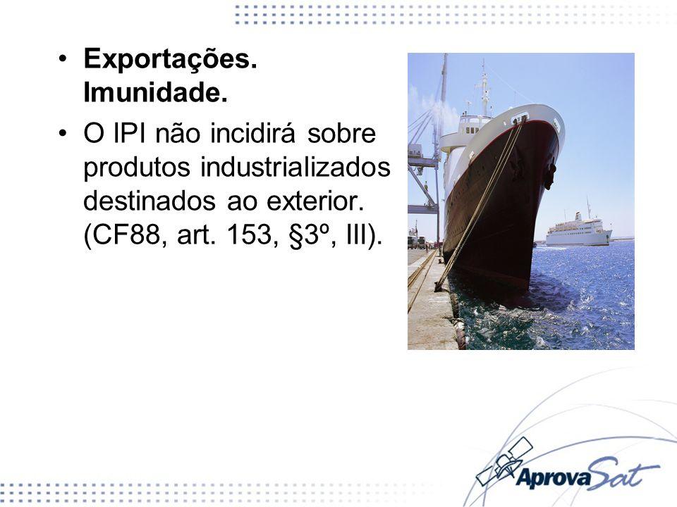 Exportações. Imunidade.