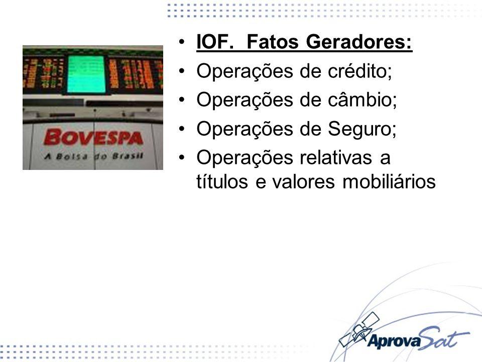 Operações relativas a títulos e valores mobiliários
