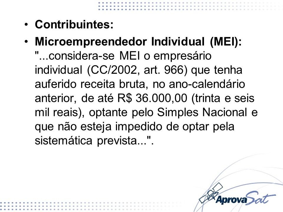 Contribuintes: