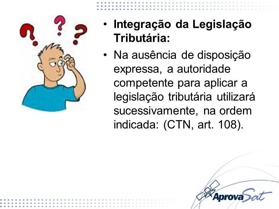 Integração da Legislação Tributária: