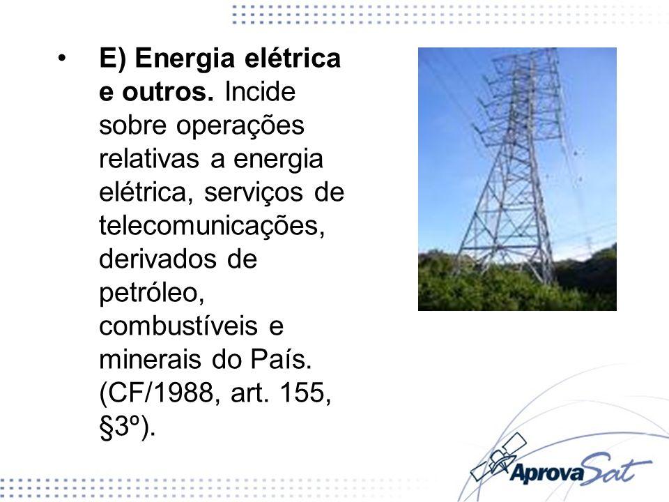 E) Energia elétrica e outros