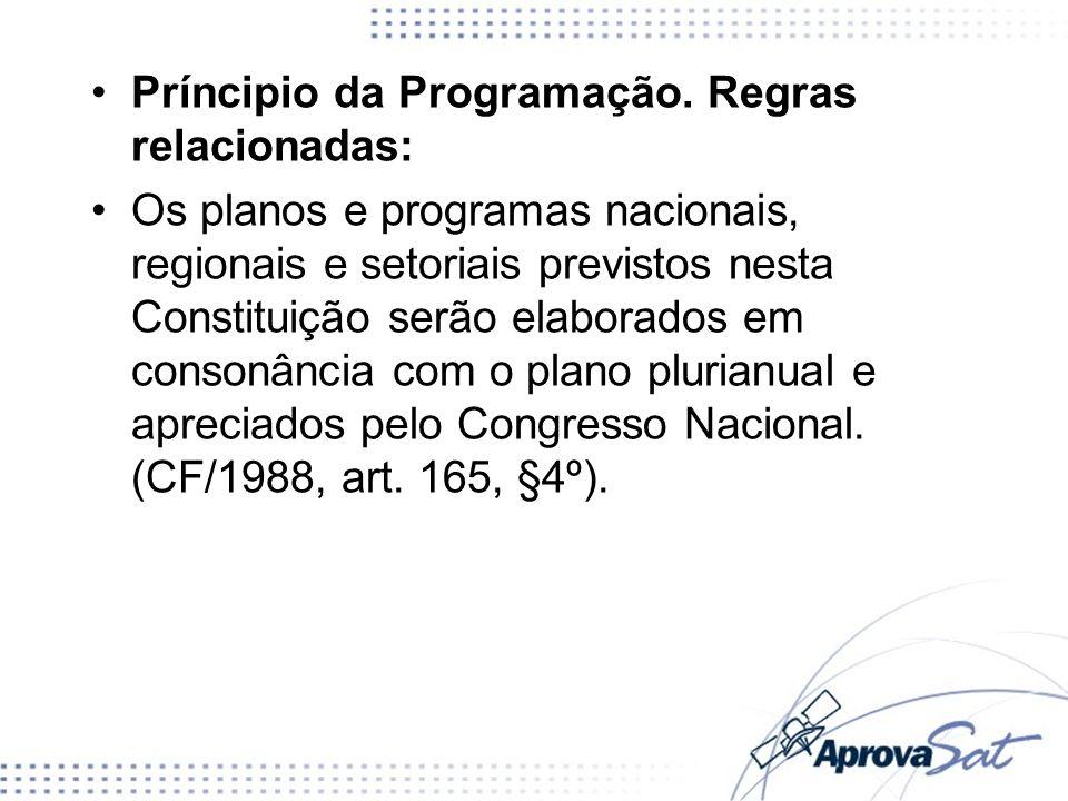 Príncipio da Programação. Regras relacionadas: