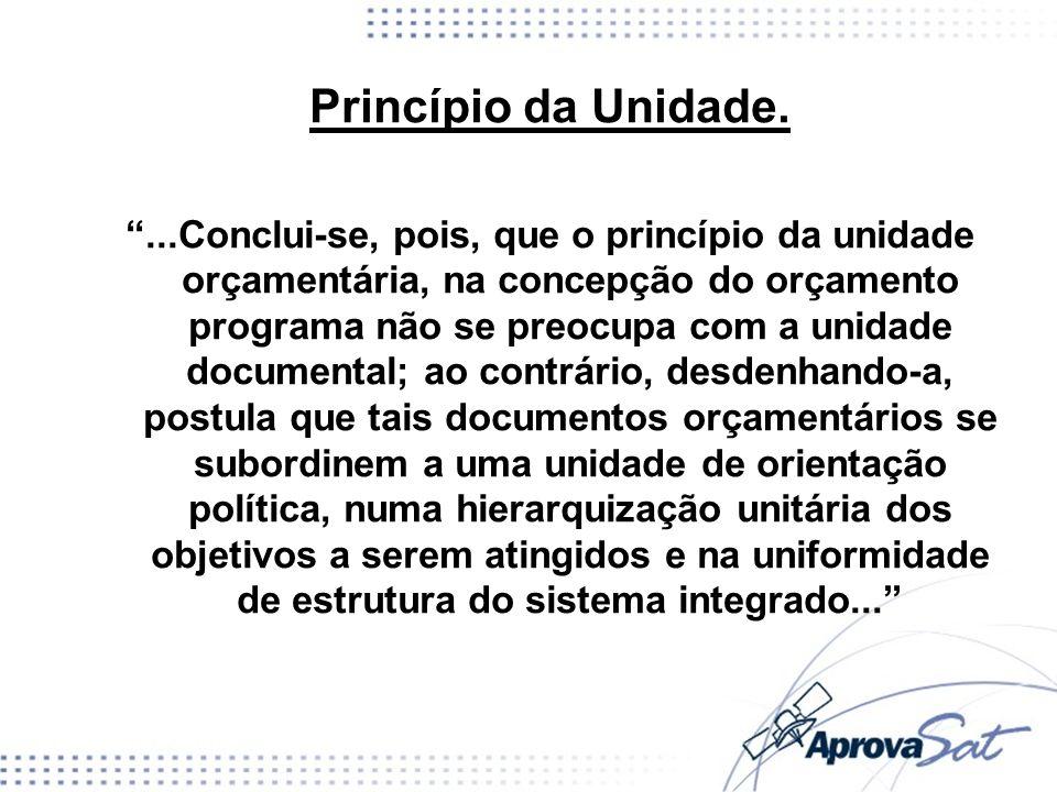 Princípio da Unidade.