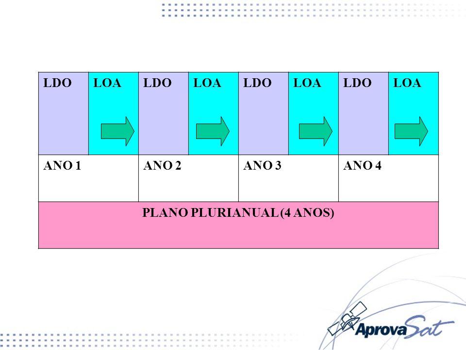 PLANO PLURIANUAL (4 ANOS)