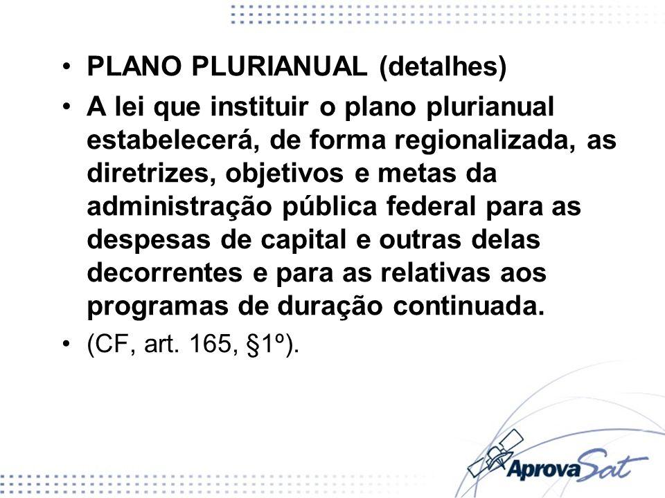 PLANO PLURIANUAL (detalhes)
