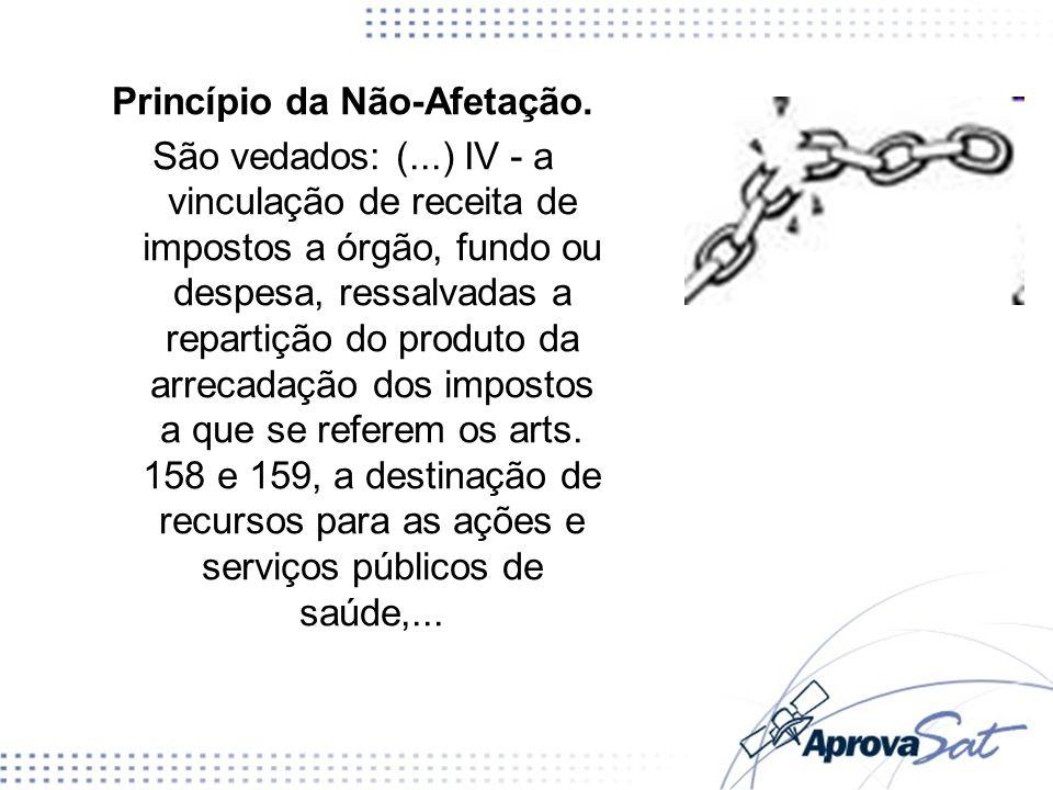 Princípio da Não-Afetação.