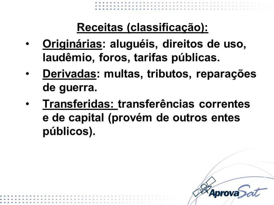 Receitas (classificação):