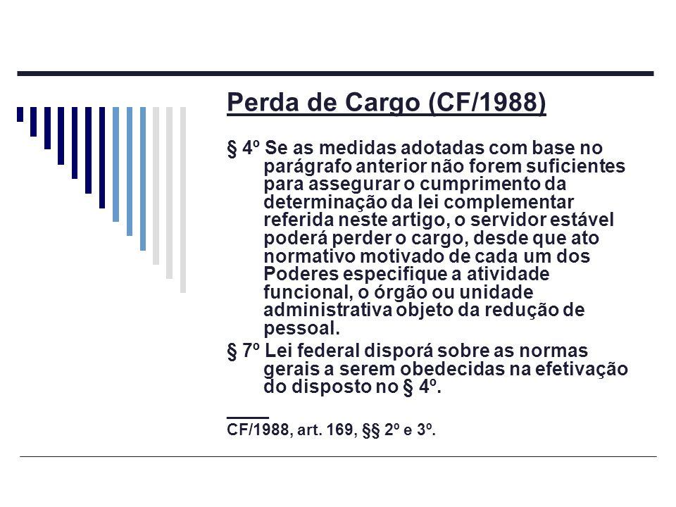 Perda de Cargo (CF/1988)