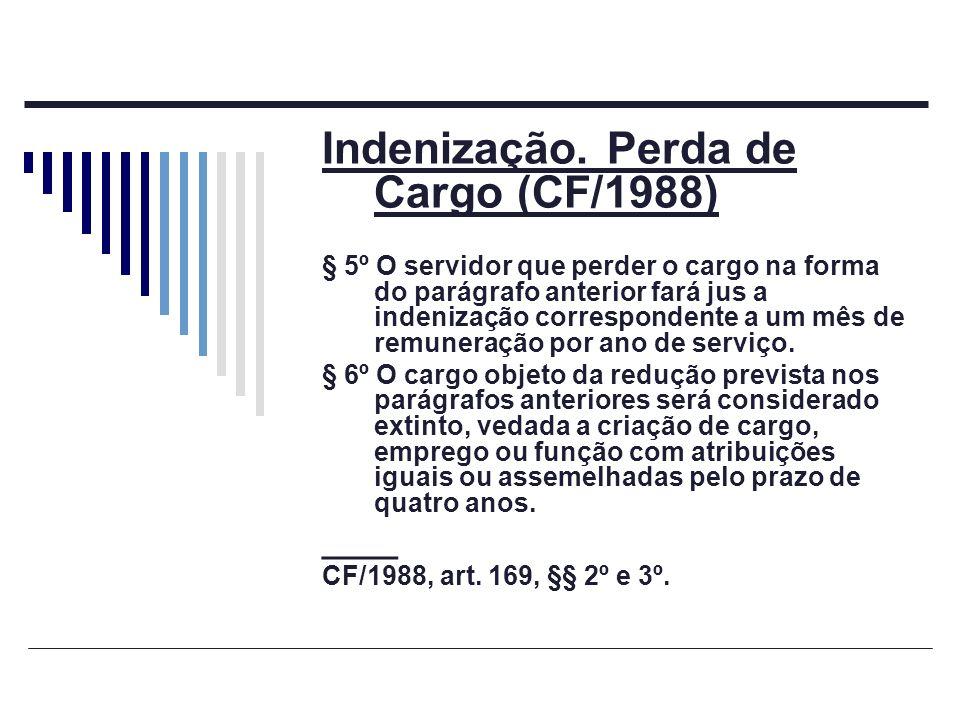 Indenização. Perda de Cargo (CF/1988)