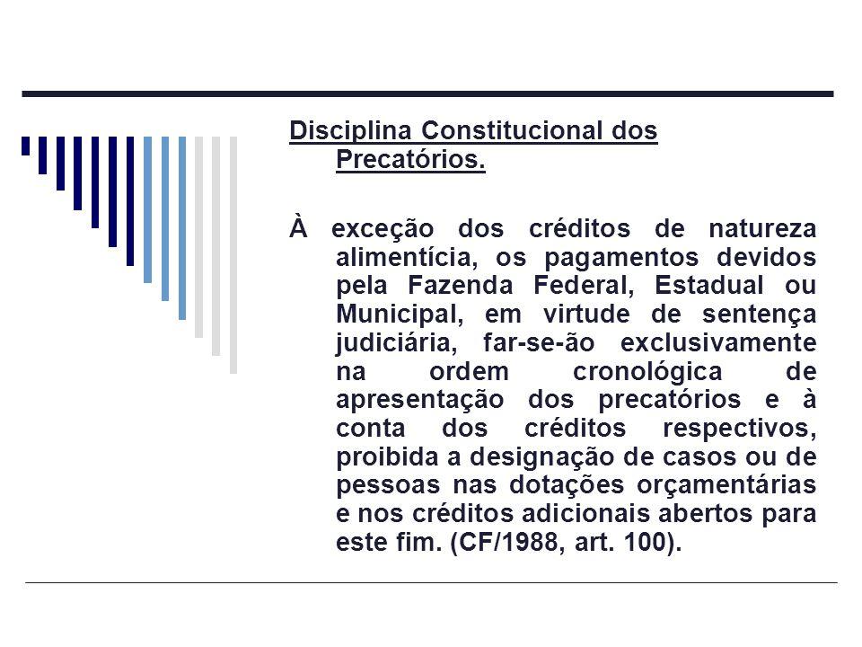 Disciplina Constitucional dos Precatórios.
