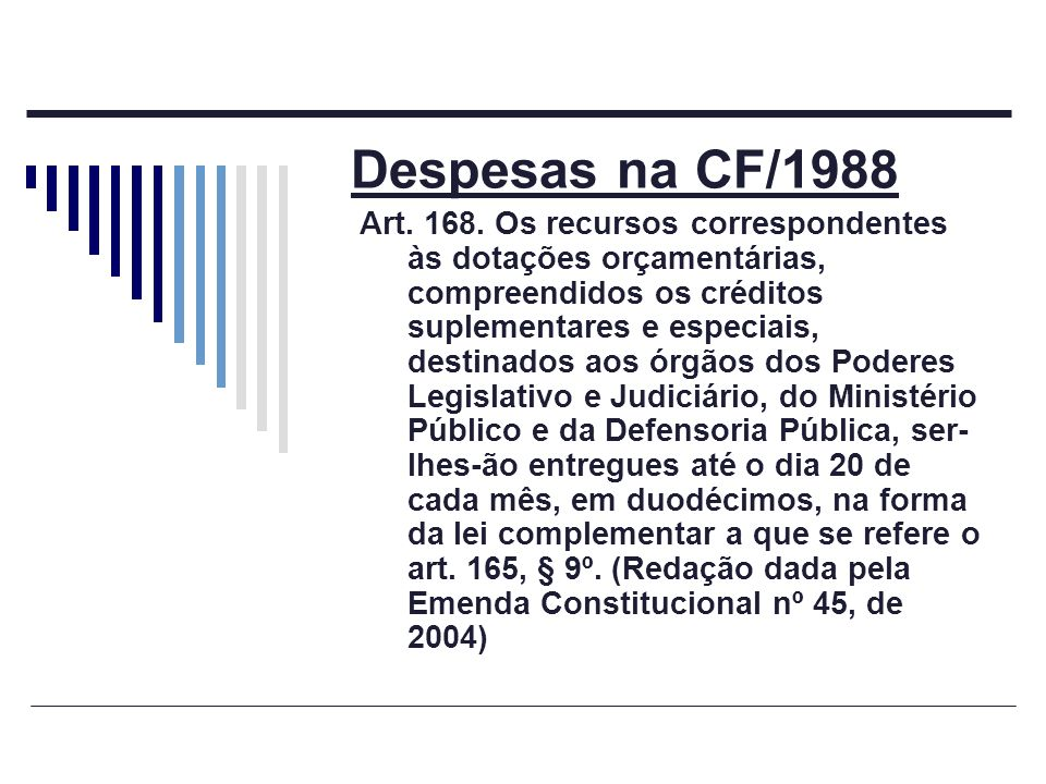 Despesas na CF/1988