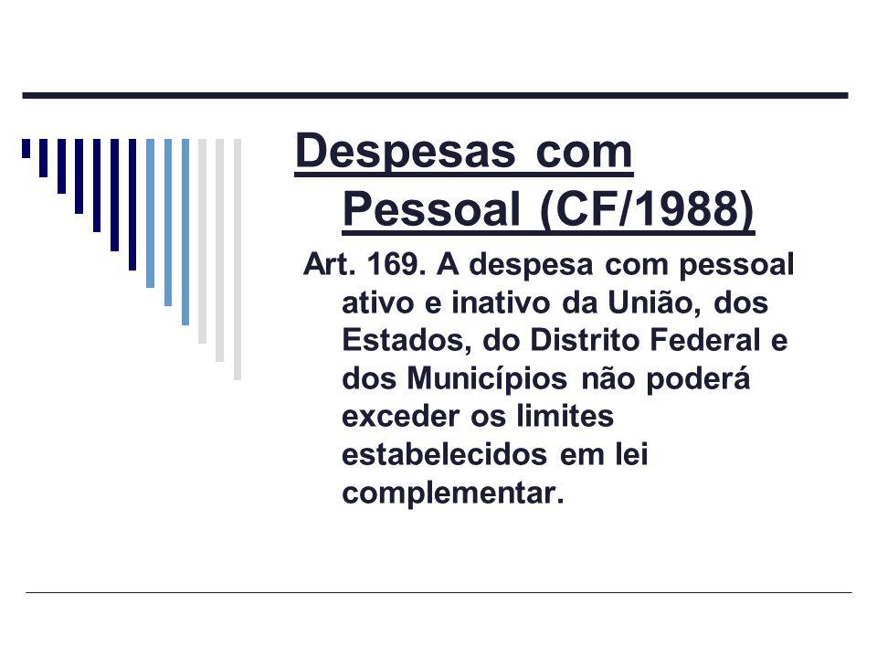 Despesas com Pessoal (CF/1988)