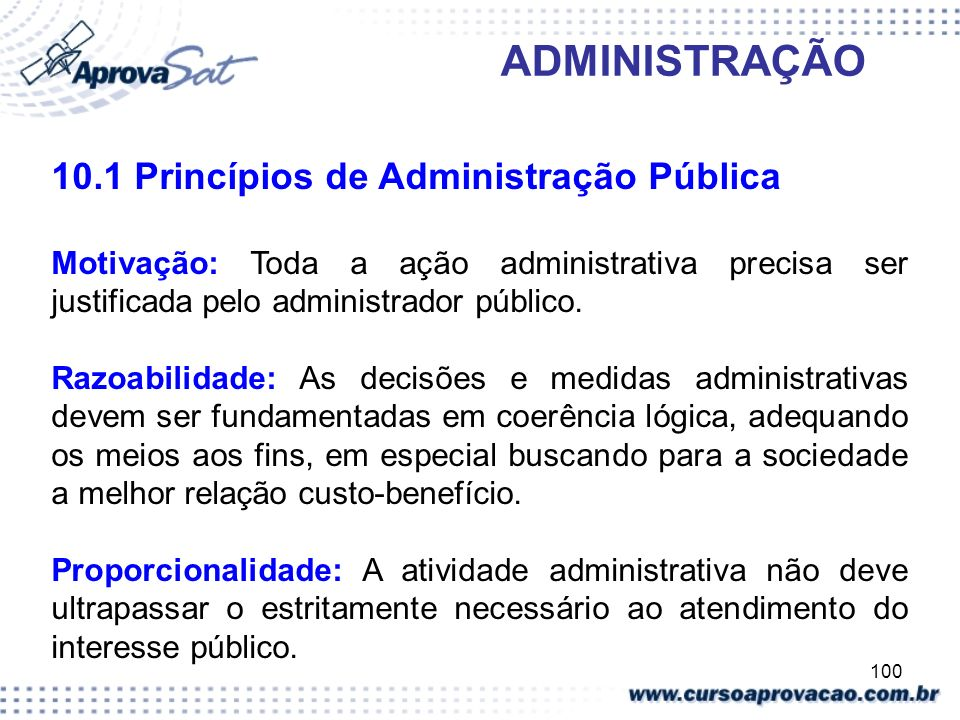 10.1 Princípios de Administração Pública