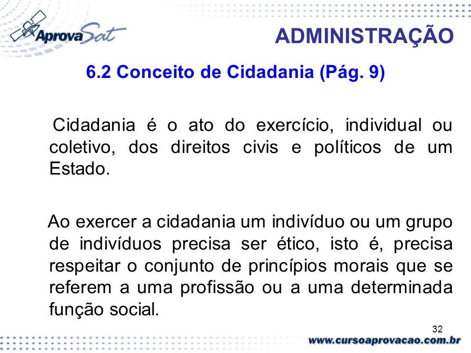 6.2 Conceito de Cidadania (Pág. 9)
