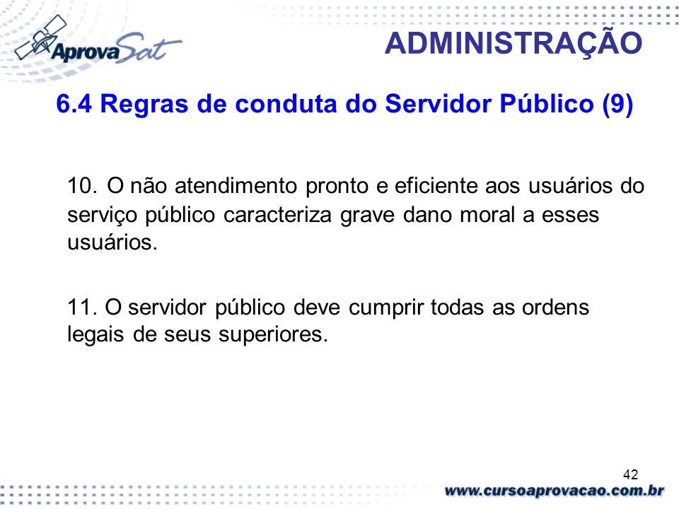 6.4 Regras de conduta do Servidor Público (9)