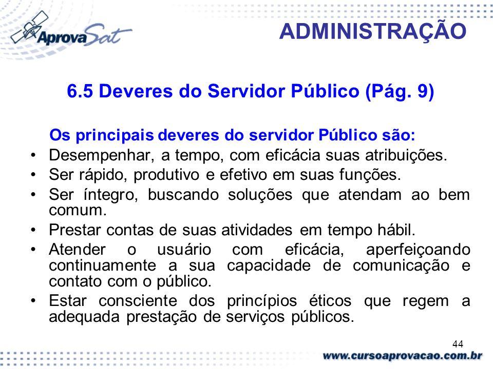6.5 Deveres do Servidor Público (Pág. 9)