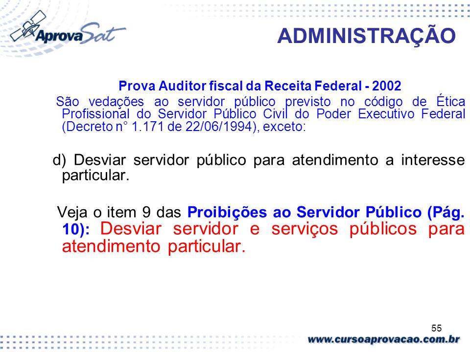 Prova Auditor fiscal da Receita Federal - 2002